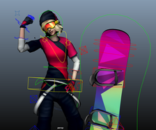 Astrid - The Snowboarder Rig